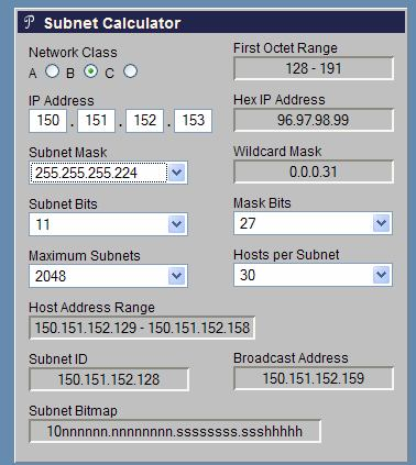 Verifica con : IP Subnet Calculator (http://www.subnet-calculator.com/) Verifica con : Calcolatrice IP online (http://www.