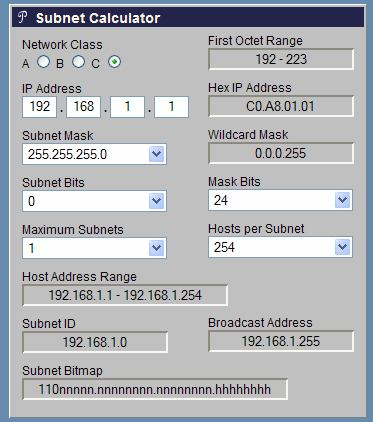 Verifica con IP Subnet Calculator (http://www.subnet-calculator.com/) Verifica con : Calcolatrice IP online (http://www.