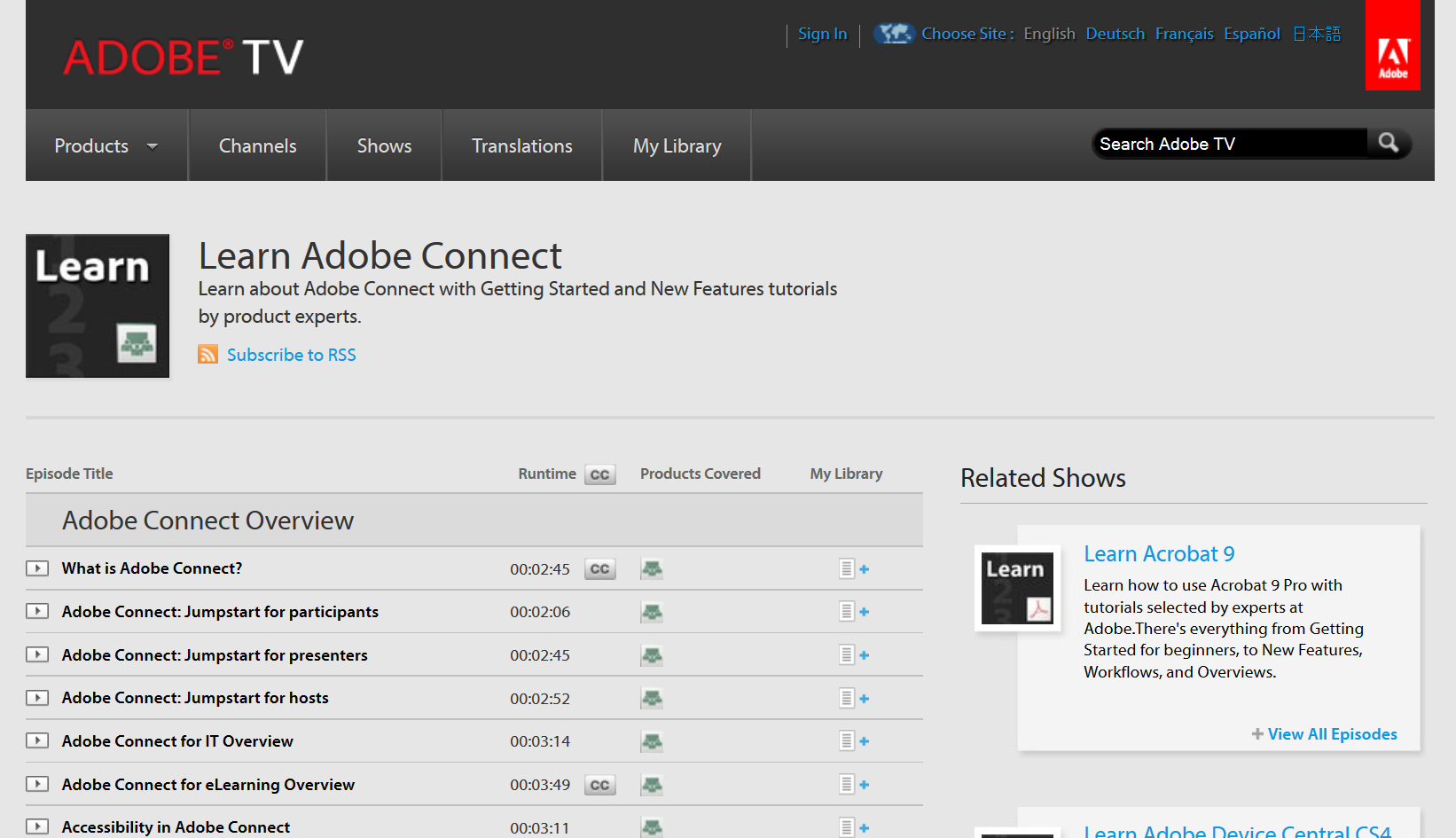 Learn Adobe Connect http://tv.