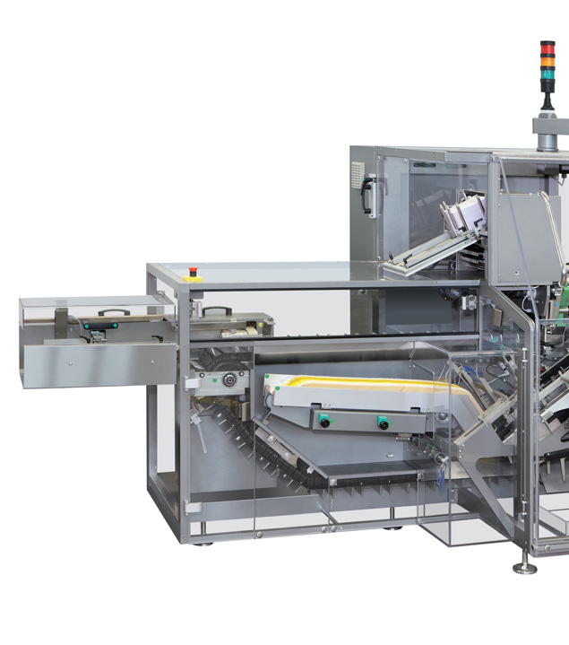 MAIN CLOSURES / CHIUSURE PRINCIPALI Carton closing Thanks to the machine versatility, it is possibile to handle a lot of different carton shapes, configurating the machine with dedicated groups.