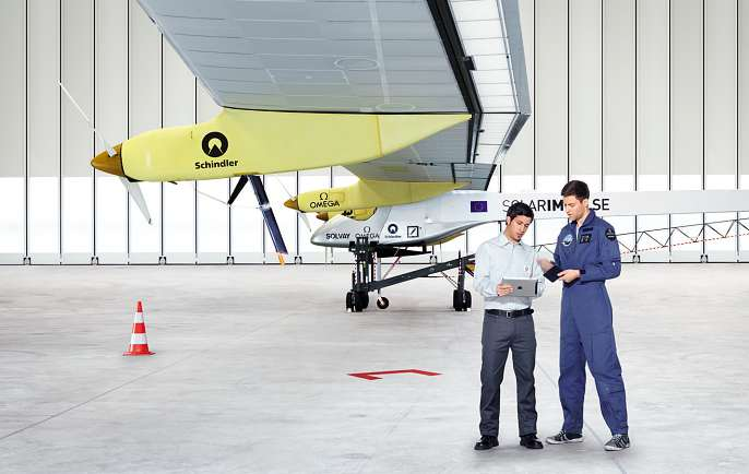 Around the world in a solar airplane Schindler è partner di Solar Impulse, l aereo