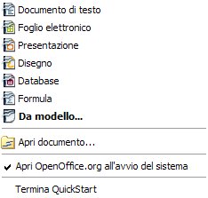 Nota per gli utenti Windows Se avete associato i file di Microsoft Office con OOo, facendo doppio clic su di un file *.doc (Word) si avvia l'applicativo Writer; analogamente, un doppio clic su file *.