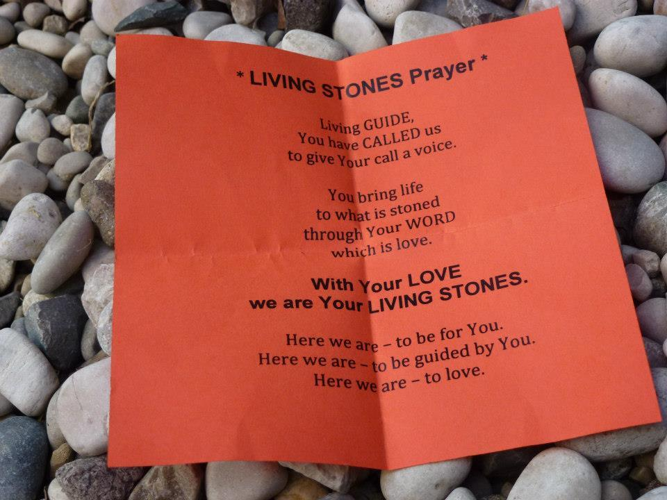 The Living Stones Prayer Living Guide, You have called us To give Your call a voice You bring life To our stones Through Your WORD