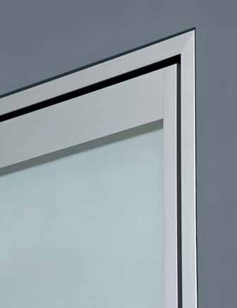 Hinged glass door or full-wing plywood door, natural anodized aluminium telescopic jamb, suitable for 8.5 to 12.