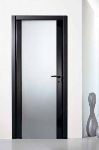 Many different aesthetics and functional proposals in the case of the Rever door whit a mirror or the Rever with an hardened frosted glass.