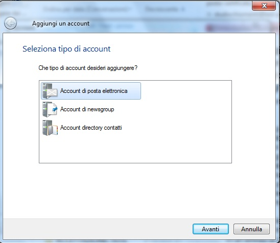 Configura la PEC su Windows Mail LIVE 1 Apri Windows Mail LIVE 1) clicca su Opzioni e