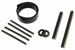 8 mm to 30 mm, standard or reinforced, straight or cranked. They can be delivered complete, split or split adjustable (Vario Joint or Smart Shaft system).