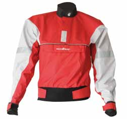 Race: paddling jacket for competition slalom and whitewater with adjustable neck and neoprene wrists.