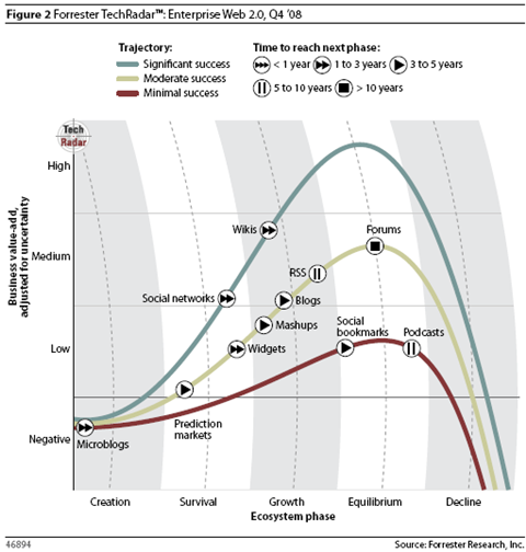 Figura 43: Forrester TechRadar, Enterprise Web 2.