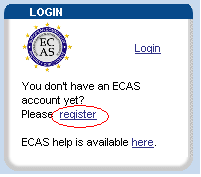 PARTICIPANT PORTAL ACCOUNT ECAS L accesso al participant Portal richiede un account ECAS (European Commission Authentication Service) N.B.