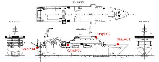 1) 1.05 (cr. 2) - M Free run 8 Meas ShipP02 Steering station - - 0.20 (cr.