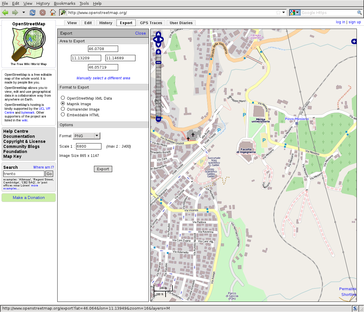 Web Map Service V OpenStreetMap download
