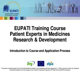 EUPATI TRAINING COURSE 2 NATIONAL INITIATIVES NETWORK WEBINARS