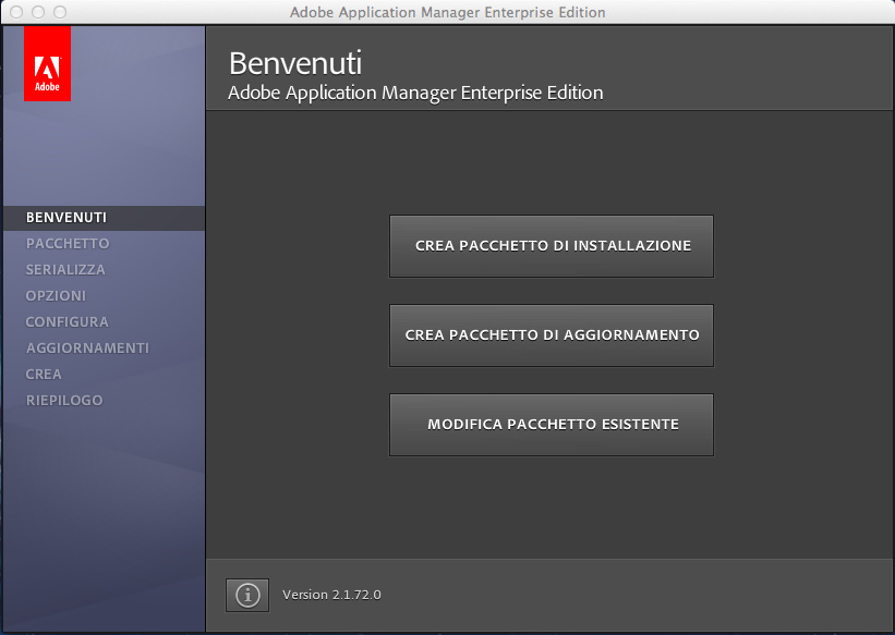 Utilizzo di Adobe Application Manager 2.