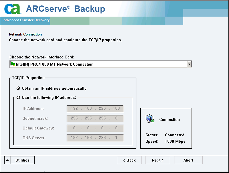 Ripristino di emergenza su Windows Server 2008 e Windows 7 c. Verificare le periferiche e fare clic su Avanti dalla finestra di dialogo Caricamento driver.