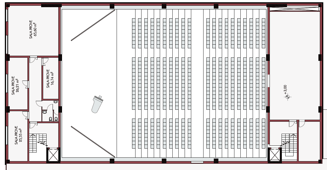 Fig. 9 sezione dell auditorium. Fig.