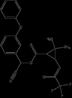 (R)-α-cyano-3-phenoxybenzyl (1S)-cis-3-[(Z)-2-chloro-3,3,3-trifluoropropenyl]- 2,2-dimethylcyclopropanecarboxylate and (S)-α-cyano-3-phenoxybenzyl (1R)-cis-