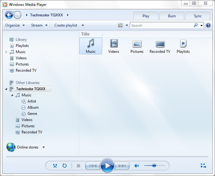 6 CONDIVISIONE DEI CONTENUTI 4 Windows Media Player si avvia.