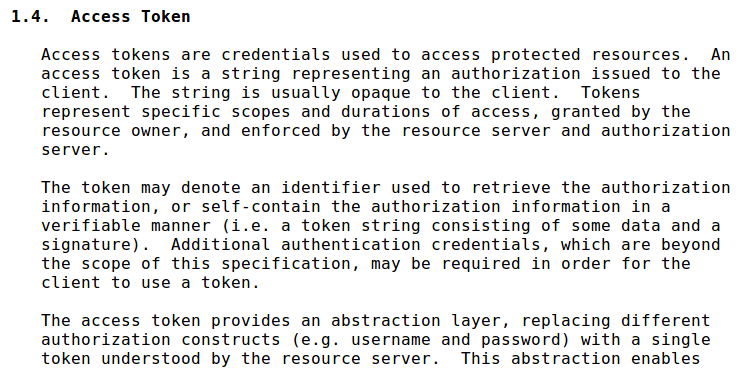 OAuth 2.0 token http://tools.
