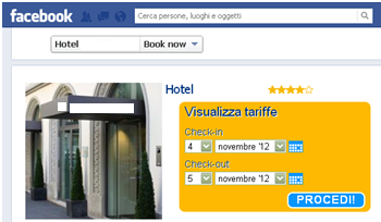 Figura 3.5 Facebook e Booking.