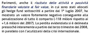 Le attività valutate al fair value (c.d.