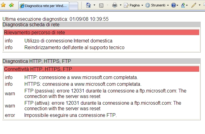 Figura 91 Analisi del registro di diagnostica di IE 6.