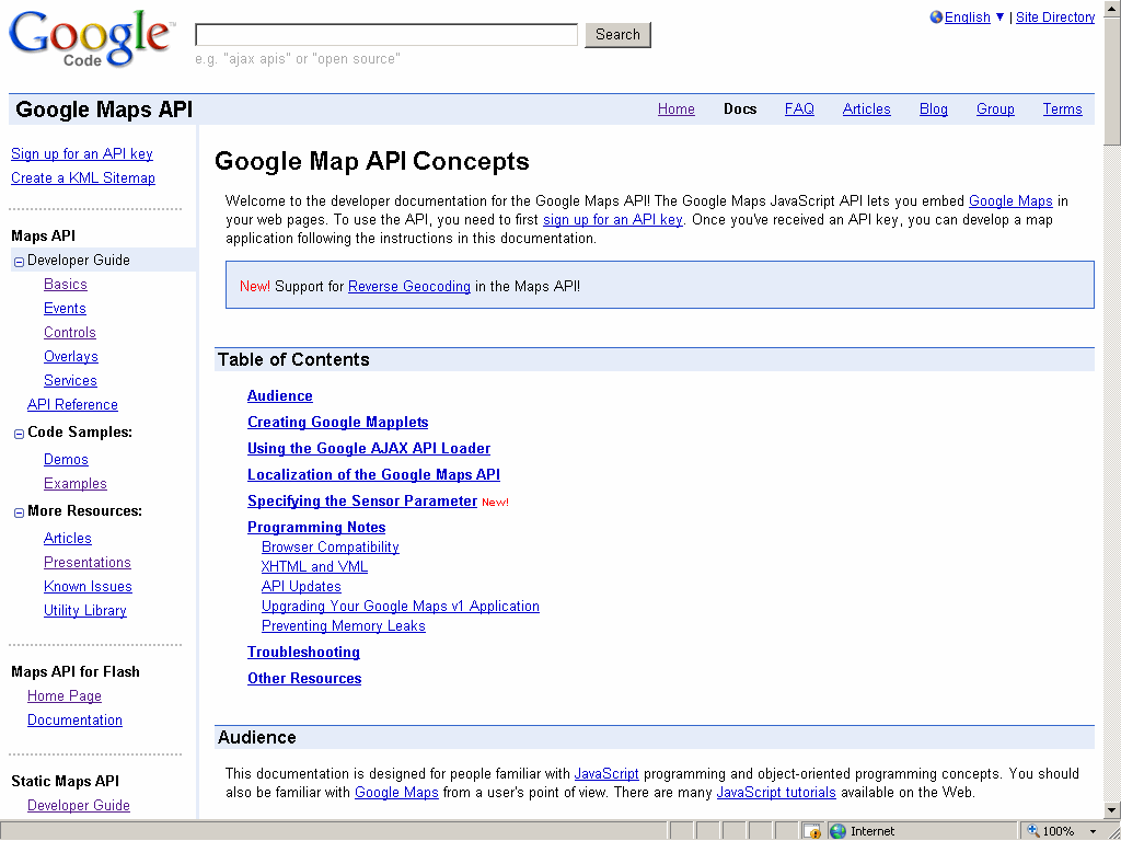 Google Maps APIs Application Programming Interface Esempi di codice