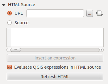 Figure 18.36: HTML frame, the item properties Tab Figure 18.