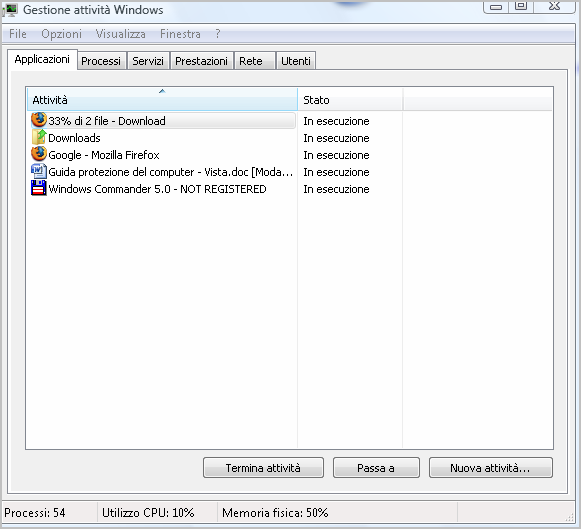 Defender, il gestore di files.