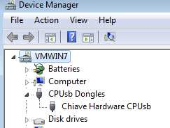 After a while Windows should detect your dongle, and list under the category CPUsb dongles Close Control Panel END OF NOTE FOR