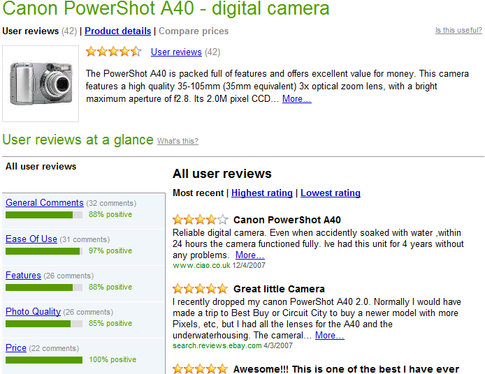 Does Text in Product Reviews Matter? I love virtually everything about this camera...except the lousy picture quality.
