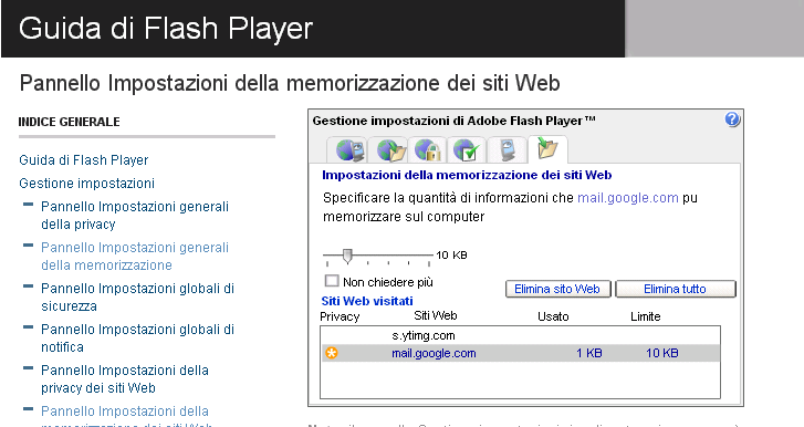 Cookies Flash Cookies Si tratta di un nuovo modo di tracciare le interazioni con i siti web visitati. Sono installati con programmi come Adobe Flash player.