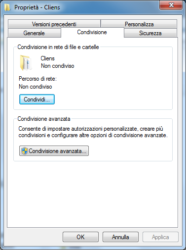 Windows XP Windows Seven Nella schermata che compare a video mettere la