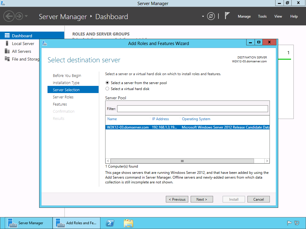 5. WINDOWS SERVER Configurazione di Windows Server