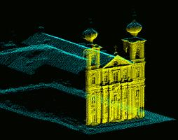 INTEGRAZIONE LIDAR E TLS scanning georeferencing aligned data 3D