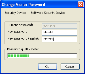 Richiesta con Firefox Firefox possiede un Security Device da proteggere con una Master Password Quando richiesto immettere una