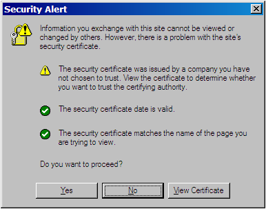 TLS/SSL: errori MS Internet