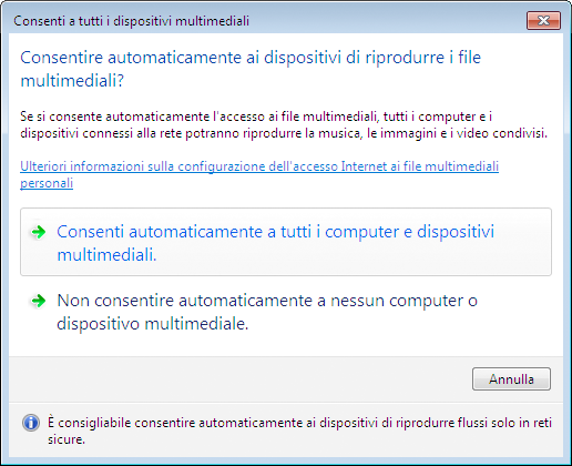Impostazione della Condivisione multimediale in Windows Media Player 12 1. Avviare Windows Media Player 12. 4. Utilizzo del Viewer 2.