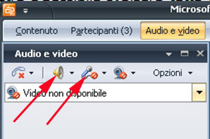 Per eseguire la connessione video 1. Se il video principale non è visibile, fare clic su Audio e video. 2.