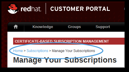 Portale Clienti di Red Hat 1 RHN Subscription Management Figura 4.