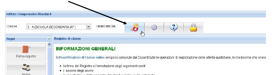 MODIFICA PASSWORD - AREA DOCENTI 1. Accedere con il proprio account al software REGEL nell Area dedicata ai Docenti. 2. Cliccare sul tasto Cambio Password 3.