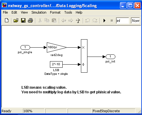 Figura 3.28: Screenshot del blocco Data Logging Figura 3.