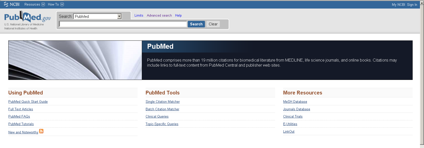 PubMed Altri tipi di ricerche (2) Clinical Trials: archivio dei trial clinici in corso Journal