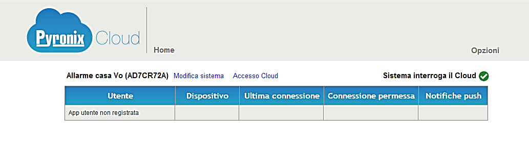 5) Clicca su Return to login page oppure vai sul sito https://www.pyronixcloud.