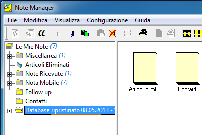 6 Elaborare note tramite Note Manager (Gestione note) 6.