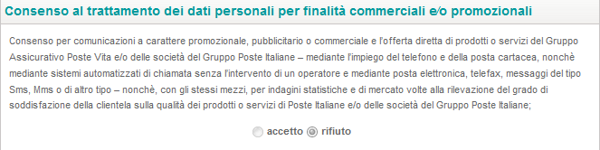 8/30 PROCEDURA UTENTE GIA REGISTRATO SU POSTE.