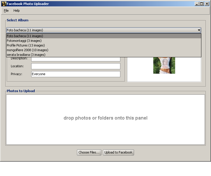Facebook Photo Uploader svn checkout