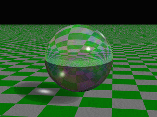 reflection.2 refraction 1 ior 1.5 specular 1 roughness.001 fade_distance 5 fade_power 1 caustics 1 irid { 0.35 thickness.5 turbulence.5 Fig.