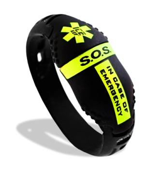 Caratteristiche tecniche Bracciale in SILICONE anallergico Involucro in ABS rigido con verniciatura soft touch Supporto USB con memoria da 256Mb a 2Gb (optional) Software protetto da Password e
