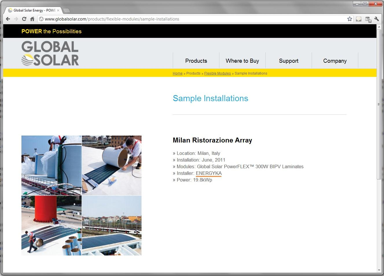 innovativi ufficiale Global Solar : www.